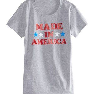 NWT *MADE in AMERICA*   PATRIOTIC TEE    XLARGE